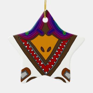 Ornamento De Cerâmica A cegonha
