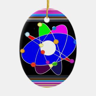 Ornamento De Cerâmica A ciência do ÁTOMO explora a ESCOLA da pesquisa
