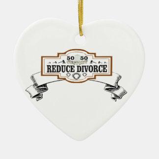 Ornamento De Cerâmica a custódia 50 50 reduz o divórcio