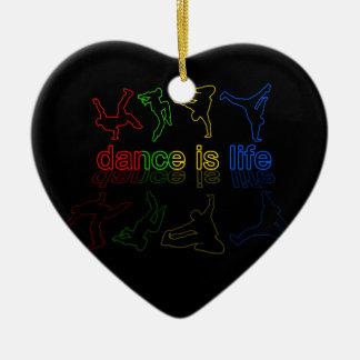 Ornamento De Cerâmica A dança é vida
