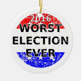 Ornamento De Cerâmica A eleição a mais má nunca