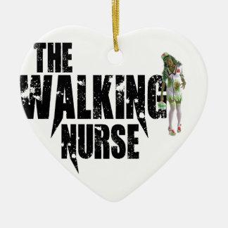 Ornamento De Cerâmica A enfermeira de passeio