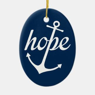 Ornamento De Cerâmica A esperança ancora a alma (o 6:19 dos hebraicos)