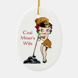 Ornamento De Cerâmica A esposa de mineiro de carvão