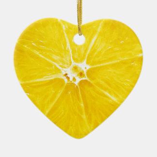 Ornamento De Cerâmica A fatia do limão Dble-tomou partido coração