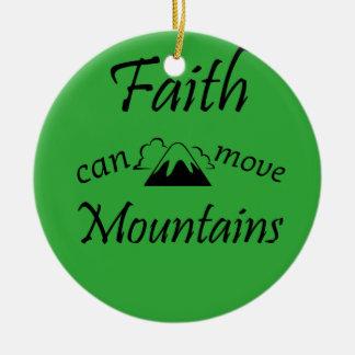 Ornamento De Cerâmica A fé pode mover montanhas