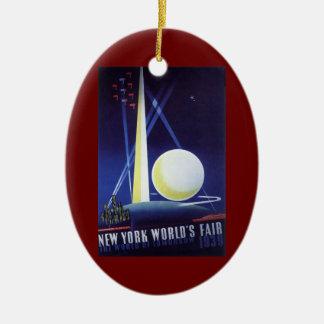 Ornamento De Cerâmica A feira de mundo da Nova Iorque em 1939, viagens