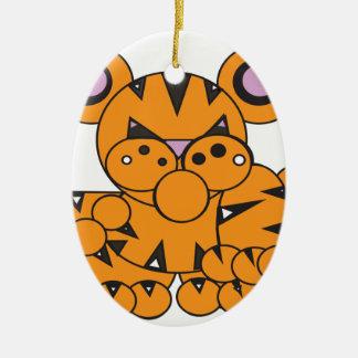 Ornamento De Cerâmica A forma fez o tigre