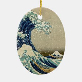 Ornamento De Cerâmica A grande onda Kanagawa