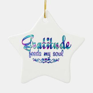 Ornamento De Cerâmica A gratitude alimenta minha alma