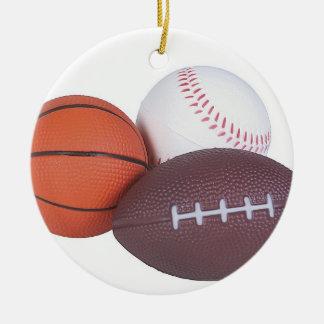 Ornamento De Cerâmica A ideia do presente do fã de esportes ostenta o