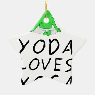 Ornamento De Cerâmica a ioga ama a ioga
