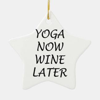 Ornamento De Cerâmica A ioga Wine agora mais tarde