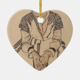 Ornamento De Cerâmica A irmã do artista de Egon Schiele- na lei