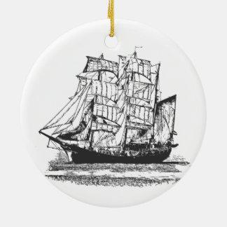 Ornamento De Cerâmica A lápis veleiro Windjammer do navio de navigação