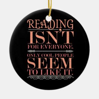 Ornamento De Cerâmica A leitura não é para todos somente pessoas legal
