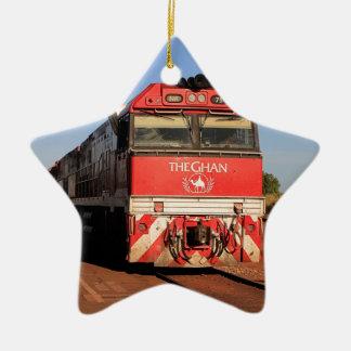 Ornamento De Cerâmica A locomotiva do trem de Ghan, Darwin