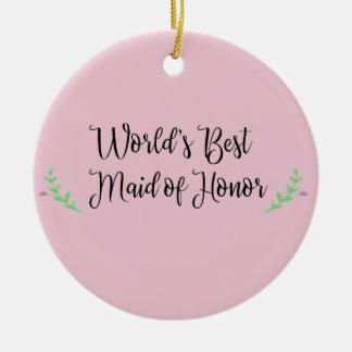 Ornamento De Cerâmica A melhor madrinha de casamento do mundo