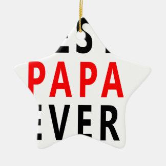 Ornamento De Cerâmica A melhor papá nunca