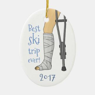 Ornamento De Cerâmica A melhor viagem do esqui nunca!