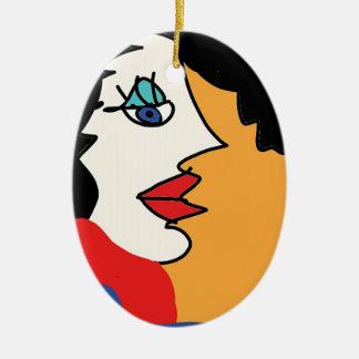Ornamento De Cerâmica a menina quer ter o divertimento