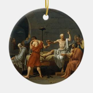 Ornamento De Cerâmica A morte de Socrates