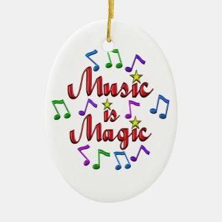 Ornamento De Cerâmica A música é mágica