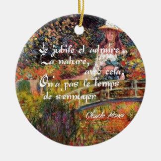 Ornamento De Cerâmica A natureza no art. de Monet