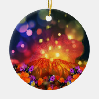 Ornamento De Cerâmica A noite é cheio da cor que aprecia a vida