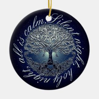 Ornamento De Cerâmica A noite santamente toda da noite silenciosa é