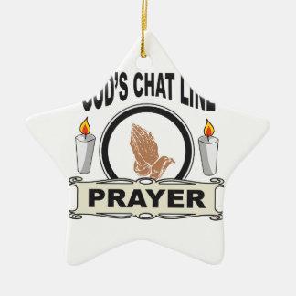 Ornamento De Cerâmica a oração é linha do bate-papo dos deuses