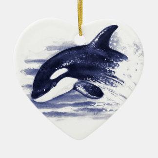 Ornamento De Cerâmica A orca do bebê salta