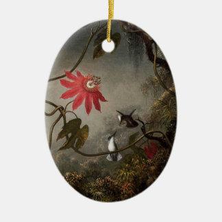 Ornamento De Cerâmica A paixão floresce frente e verso