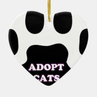 Ornamento De Cerâmica A pata do gato adota gatos com DIVERTIMENTO bonito