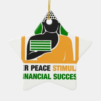 Ornamento De Cerâmica A paz interna estimula o sucesso financeiro