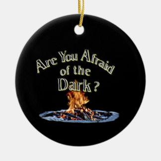 Ornamento De Cerâmica A pergunta é é você receoso da obscuridade