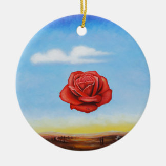 Ornamento De Cerâmica a pintura famosa surrealista aumentou da espanha