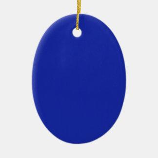Ornamento De Cerâmica A planície vazia DIY do azul adiciona a imagem da