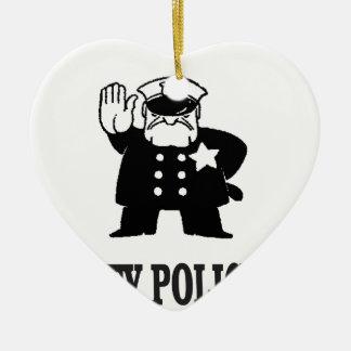 Ornamento De Cerâmica a polícia da cidade equipa