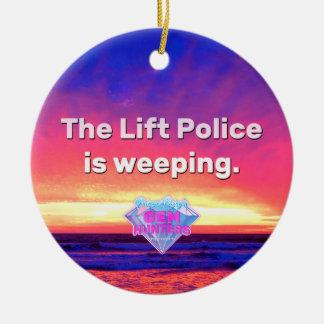 Ornamento De Cerâmica A polícia do elevador Weeping