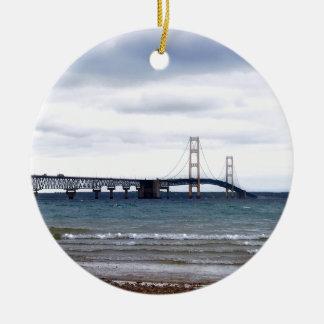 Ornamento De Cerâmica A ponte de Mackinac