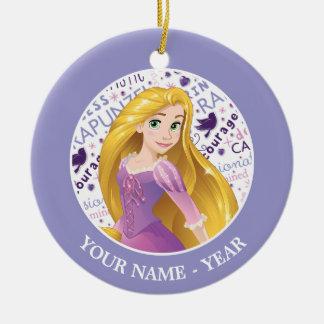 Ornamento De Cerâmica A princesa Rapunzel   Rapunzel adiciona seu nome
