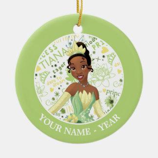 Ornamento De Cerâmica A princesa Tiana   Tiana adiciona seu nome