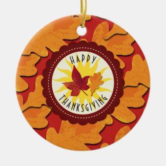 Ornamento De Cerâmica A queda colore a acção de graças feliz