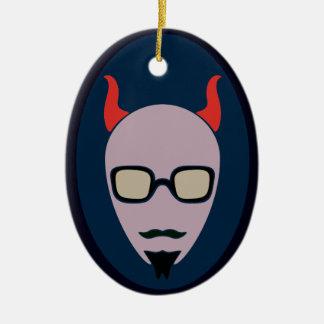 Ornamento De Cerâmica A satã é um hipster