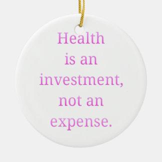 Ornamento De Cerâmica A saúde é um investimento…