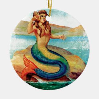 Ornamento De Cerâmica A sereia