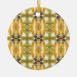 Ornamento De Cerâmica A terra tonificou o teste padrão tribal do verde