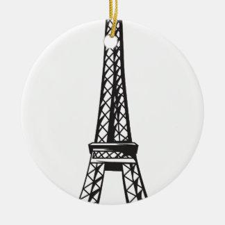 Ornamento De Cerâmica A torre Eiffel (viva)