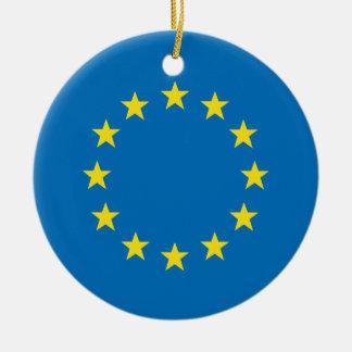 Ornamento De Cerâmica A UE embandeira (a decoração da árvore de Natal da